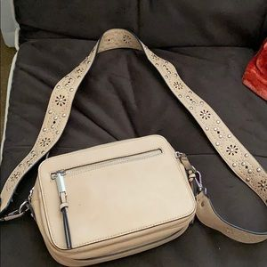 Free People tan crossbody bag